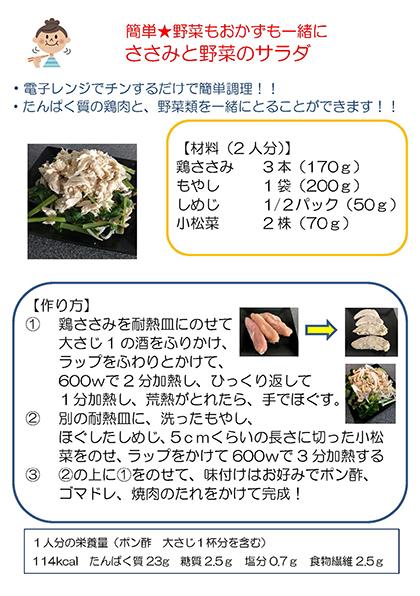 【画像】ささみと野菜のサラダ